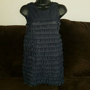 DKNY top denim look size large